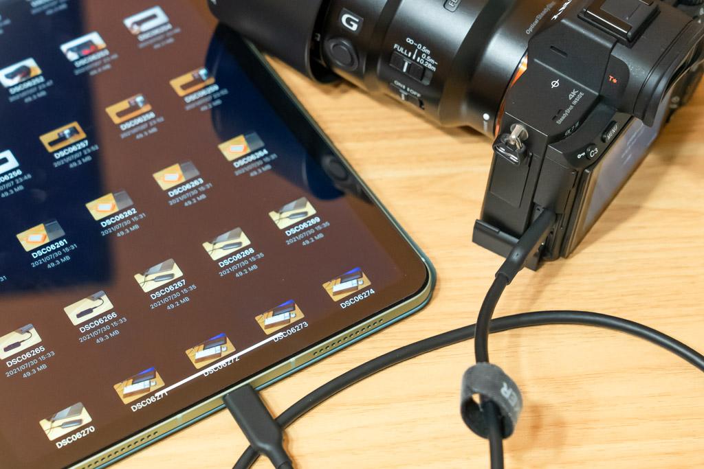 iPad Air(第4世代)と一眼レフカメラを接続