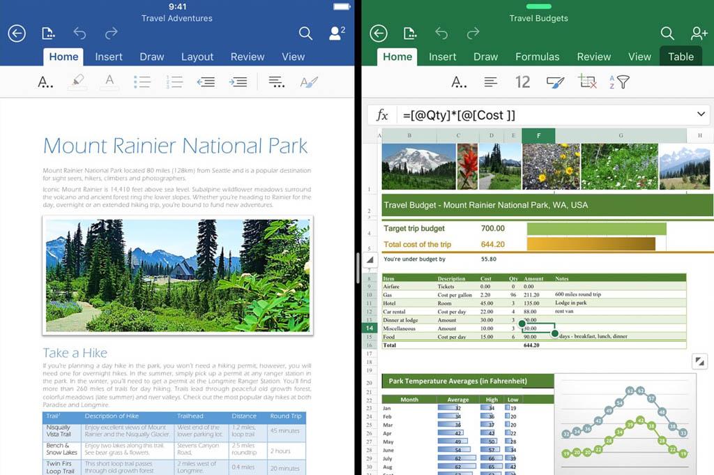iPadでMicrosoft Excel