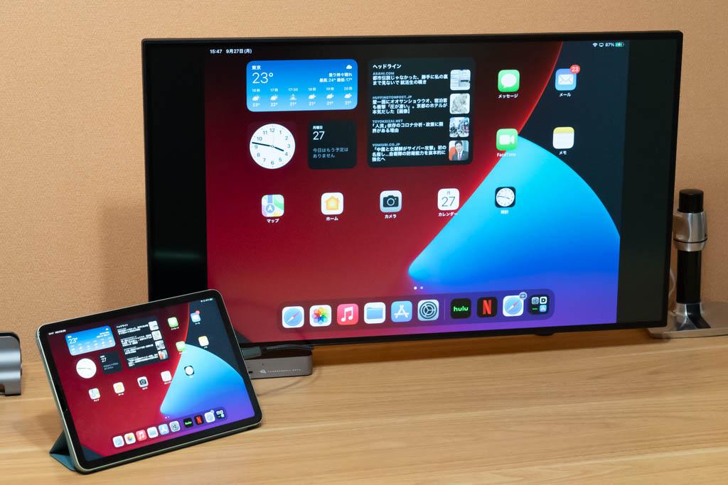 iPadを外部ディスプレに接続