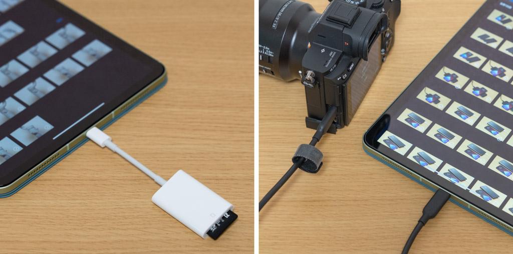 SDカード、カメラからiPadに写真を取り込む