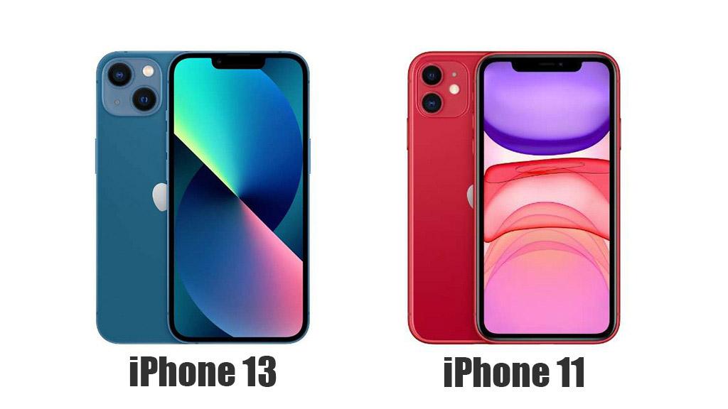 iPhone 13とiPhone 11のディスプレイを比較