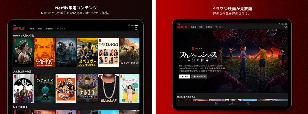 Netflix┃オリジナルコンテンツが人気 iPadおすすめアプリ