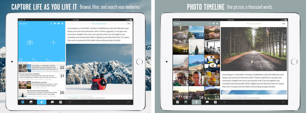 Day One ジャーナル + ライフログ┃高機能日記アプリ iPadおすすめアプリ