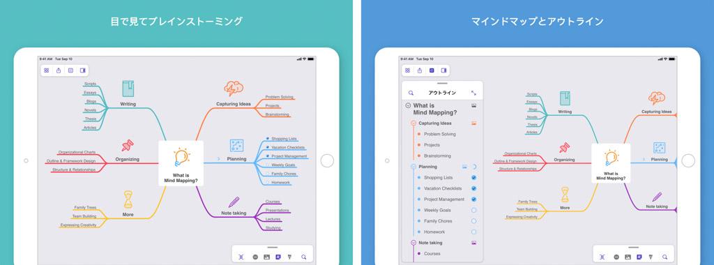 MindNode┃思考整理が捗るマインドマップアプリ