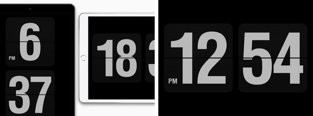 Fliqlo┃ミニマルデザインのフリップクロック iPadおすすめアプリ